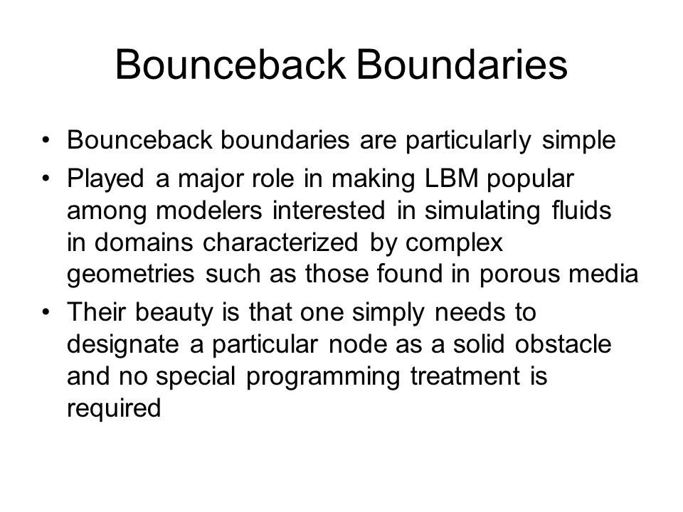 Bounceback Boundaries