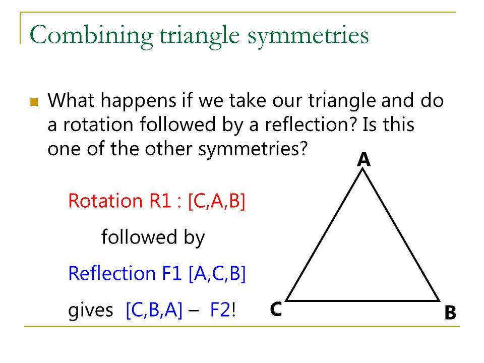Combining triangle symmetries