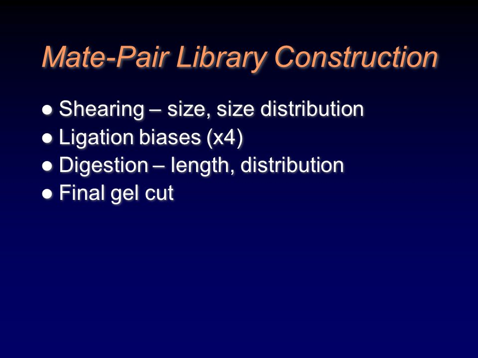 Mate-Pair Library Construction