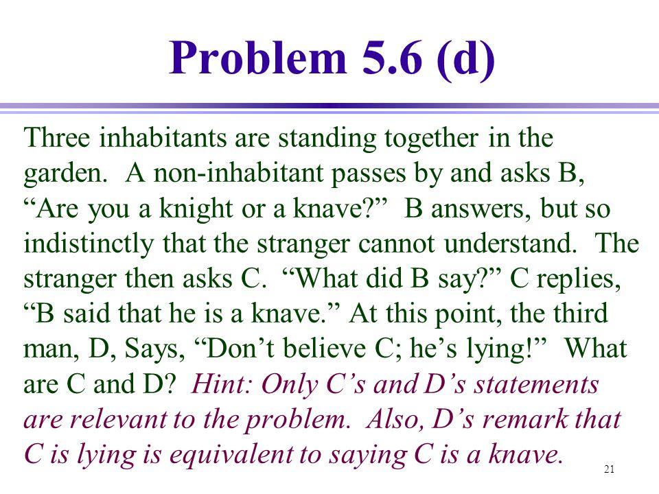 Problem 5.6 (d)