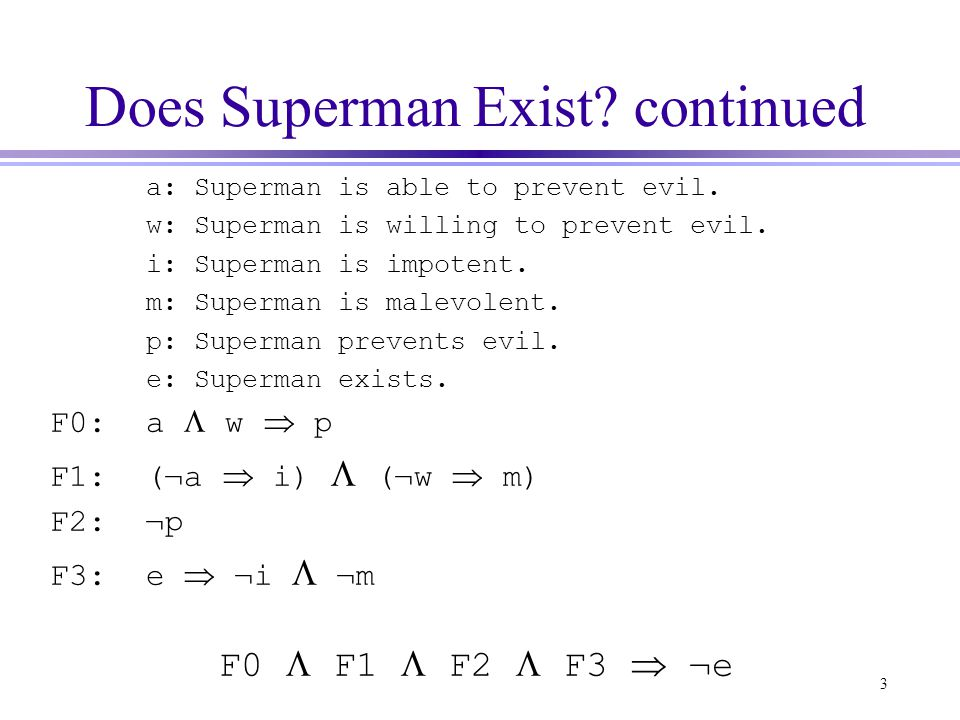 Does Superman Exist continued
