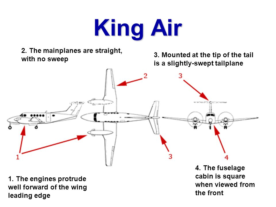 King Air 2. The mainplanes are straight,