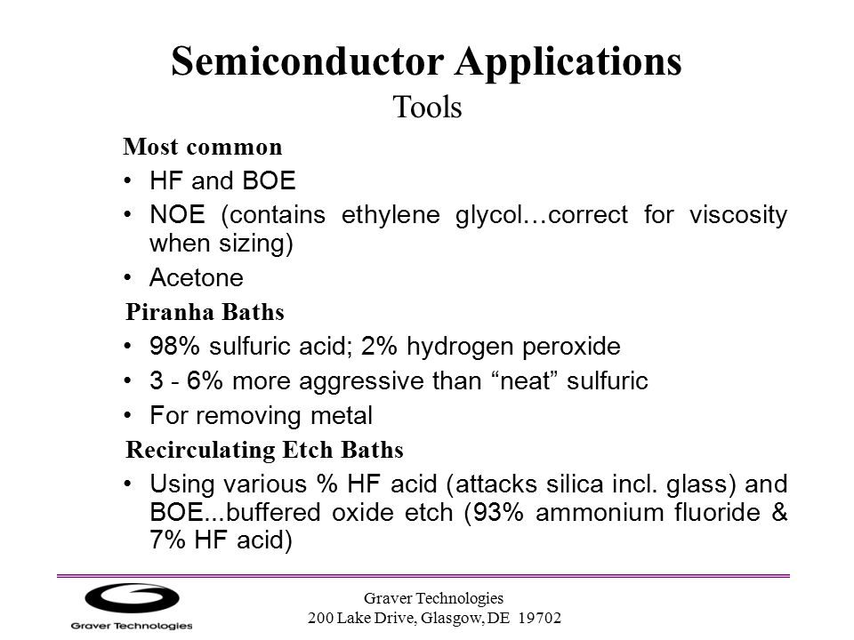Semiconductor Applications Tools