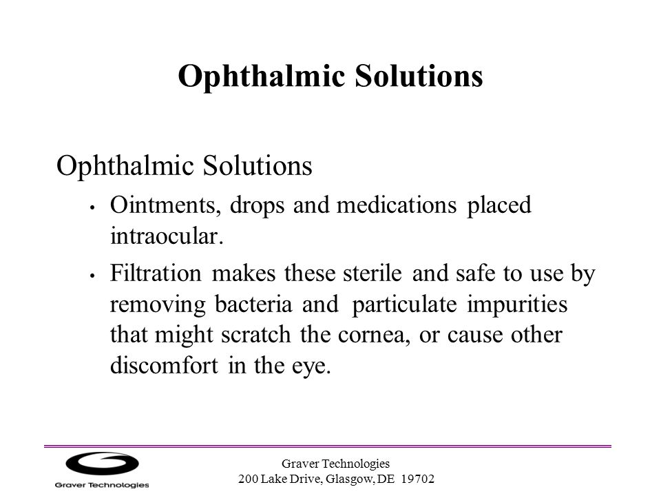 Ophthalmic Solutions Ophthalmic Solutions