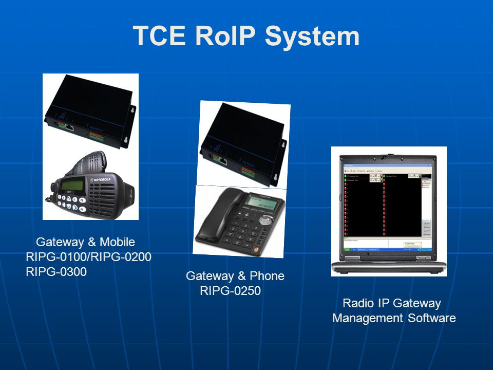 TCE RoIP System Gateway & Mobile RIPG-0100/RIPG-0200 RIPG-0300
