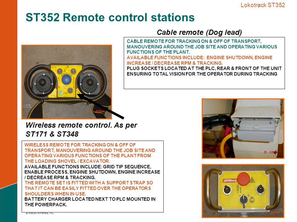 ST352 Remote control stations