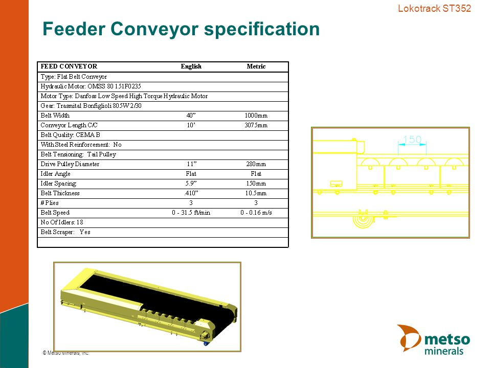 Feeder Conveyor specification