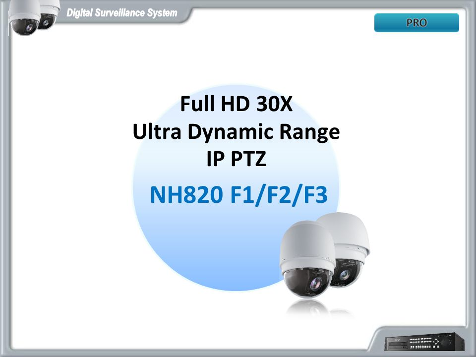 Full HD 30X Ultra Dynamic Range IP PTZ NH820 F1/F2/F3