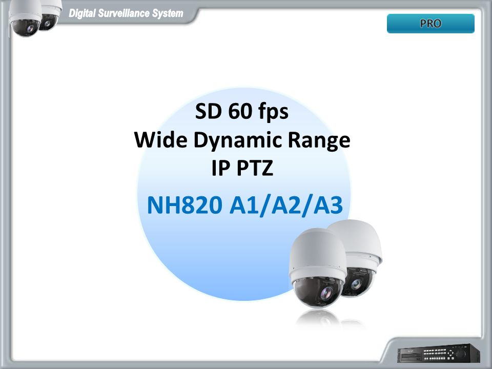 SD 60 fps Wide Dynamic Range IP PTZ NH820 A1/A2/A3