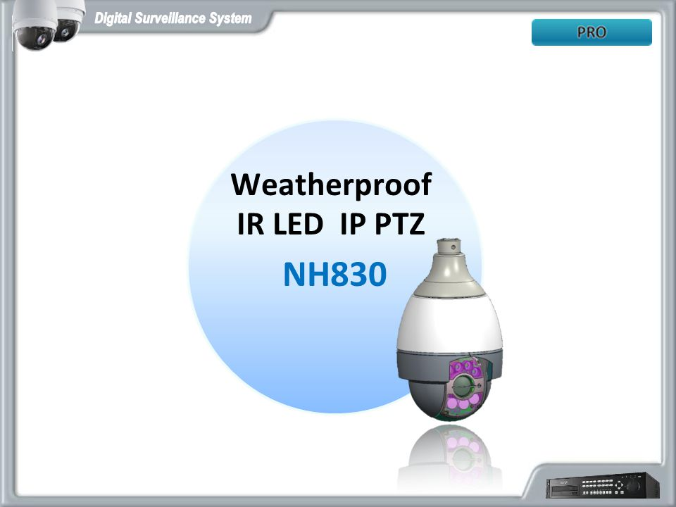 Weatherproof IR LED IP PTZ NH830