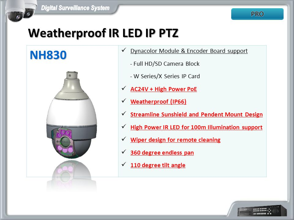 Weatherproof IR LED IP PTZ