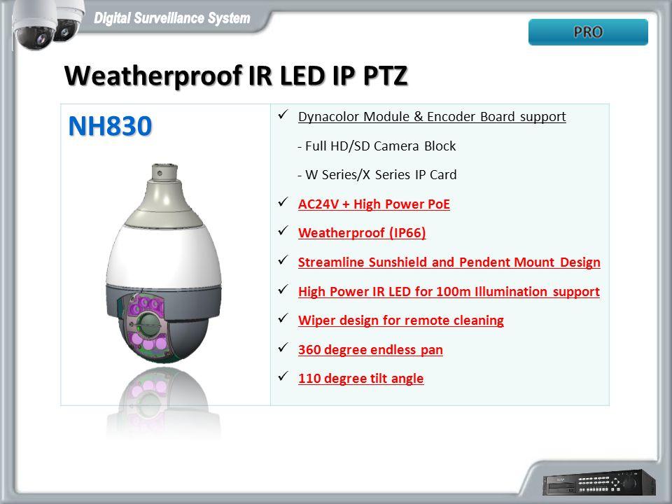 Weatherproof IR LED IP PTZ