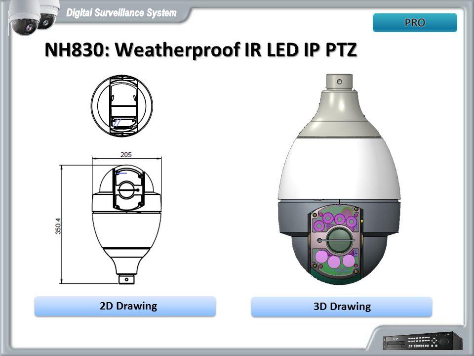 NH830: Weatherproof IR LED IP PTZ
