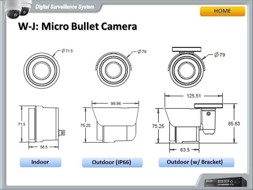 W-J: Micro Bullet Camera
