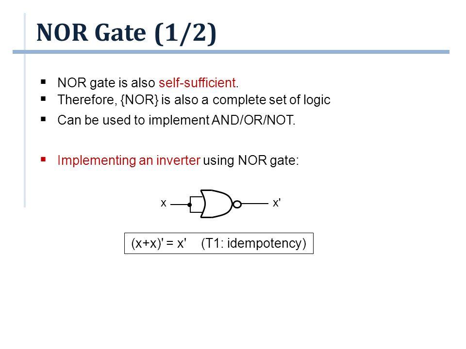 (x+x) = x (T1: idempotency)