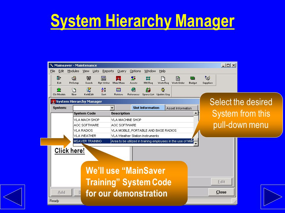 System Hierarchy Manager