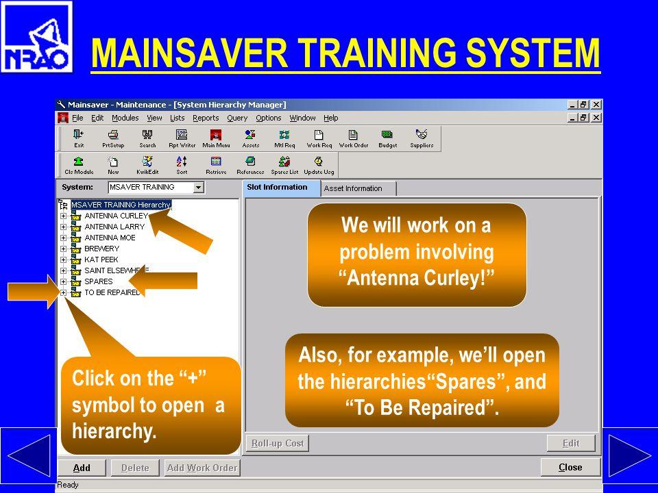 MAINSAVER TRAINING SYSTEM