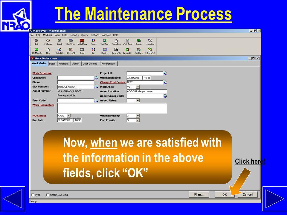 The Maintenance Process