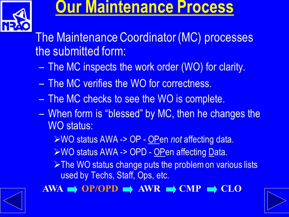 Our Maintenance Process