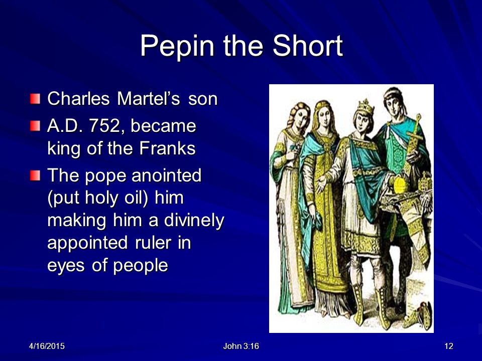 Pepin the Short Charles Martel's son