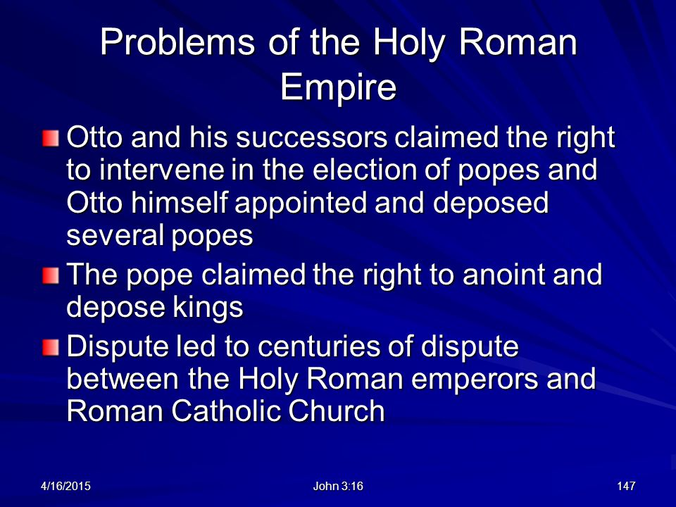 Problems of the Holy Roman Empire