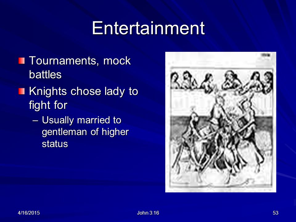 Entertainment Tournaments, mock battles