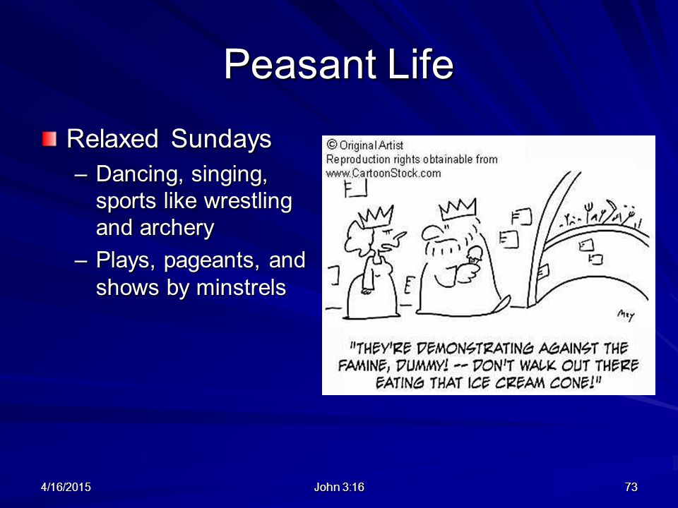 Peasant Life Relaxed Sundays