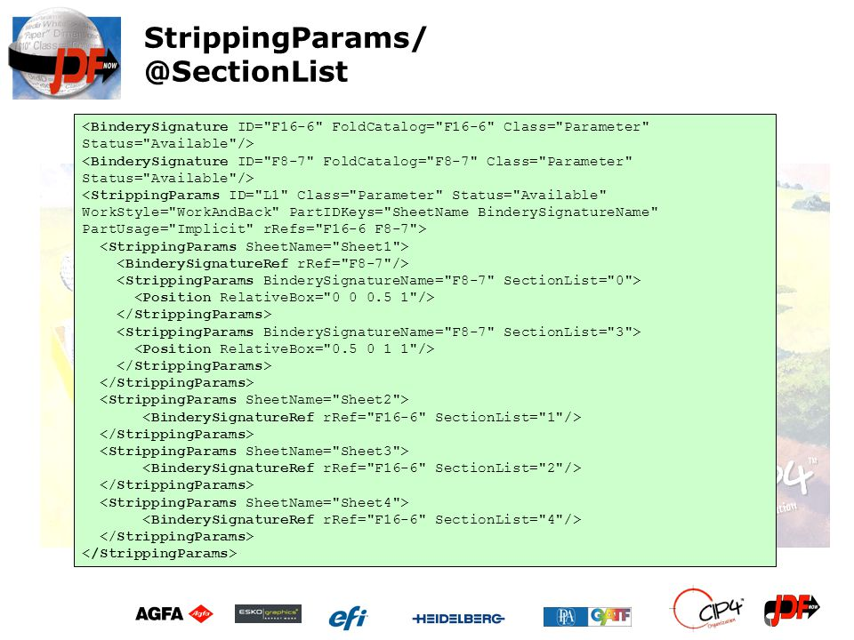 StrippingParams/ @SectionList