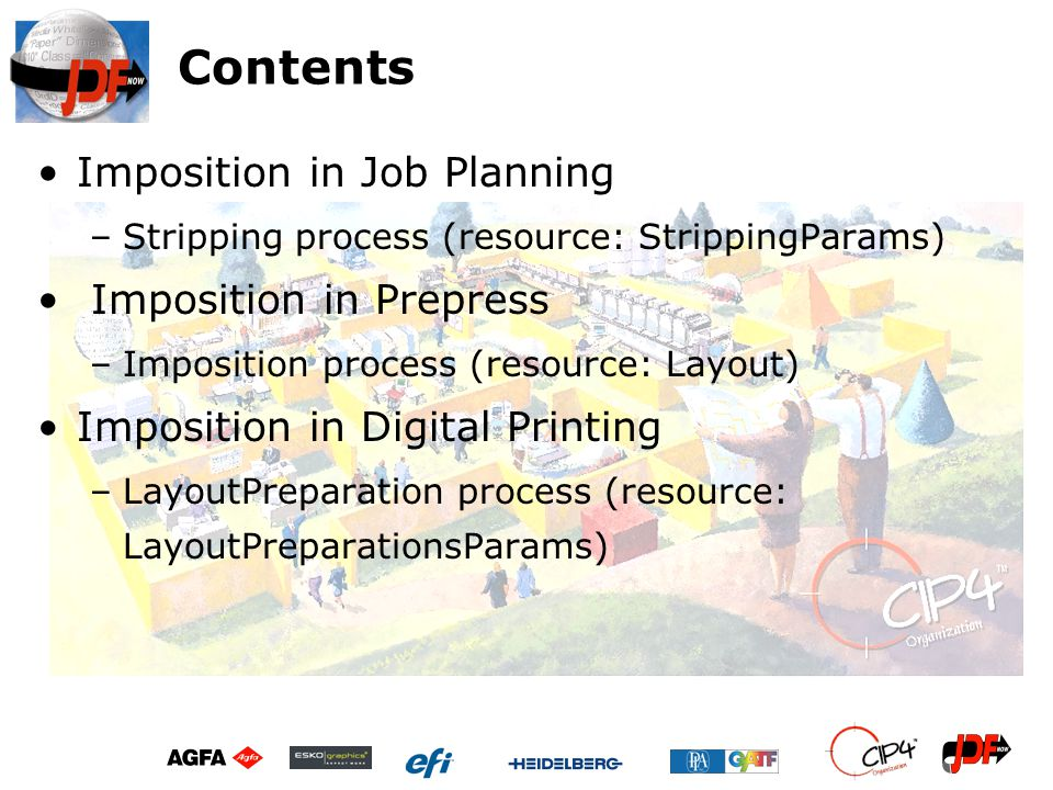 Contents Imposition in Job Planning Imposition in Prepress