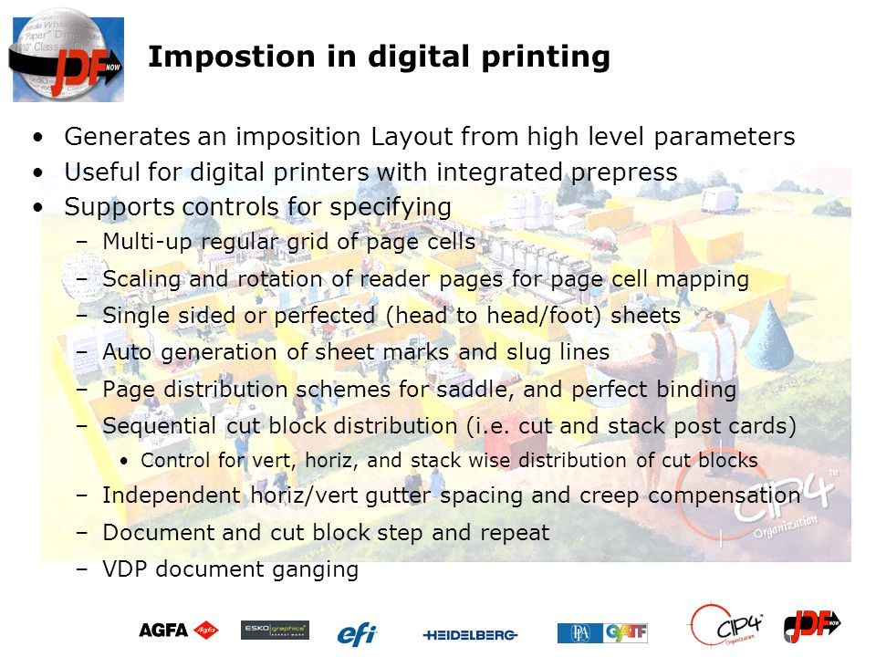 Impostion in digital printing