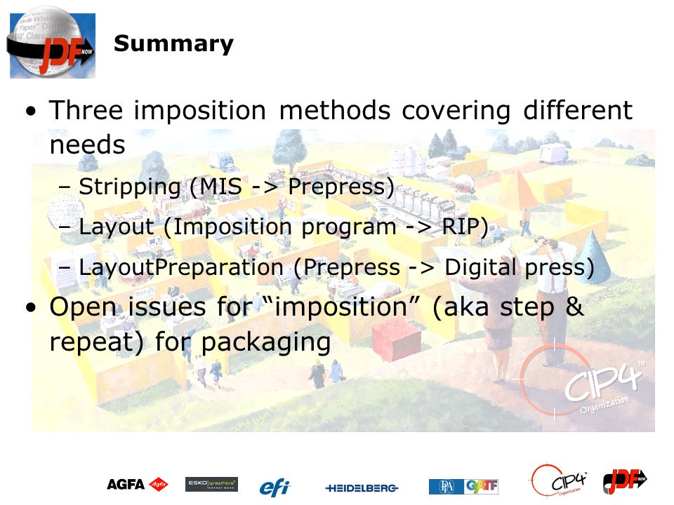 Three imposition methods covering different needs