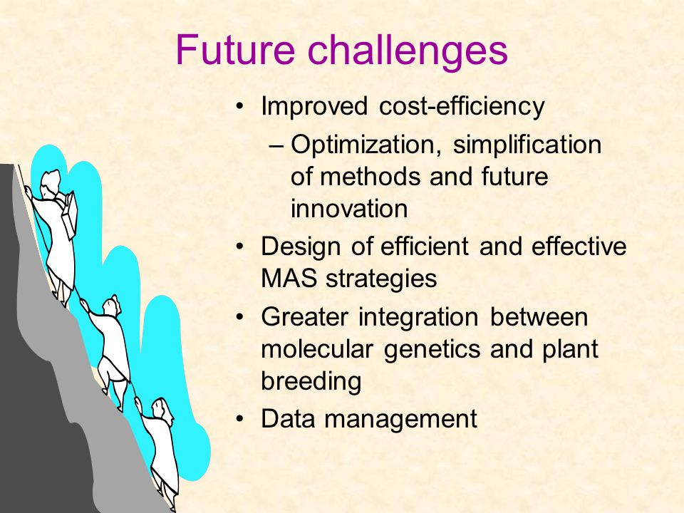 Future challenges Improved cost-efficiency