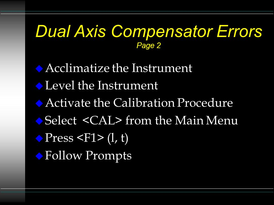 Dual Axis Compensator Errors Page 2