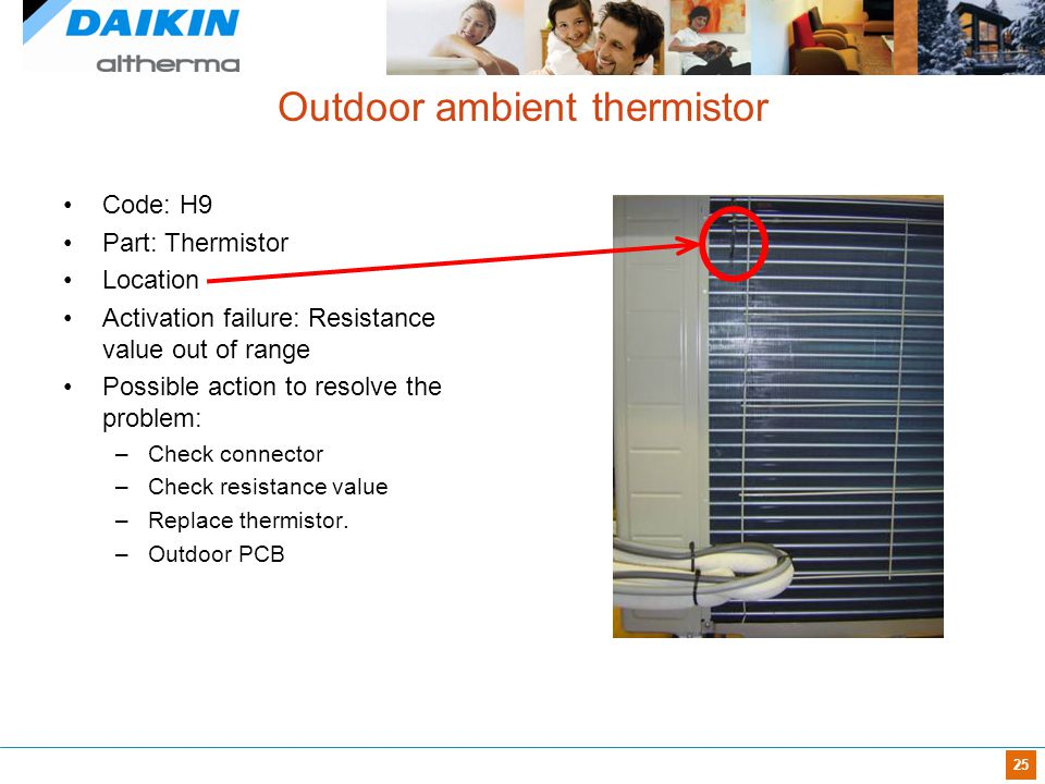 Outdoor ambient thermistor
