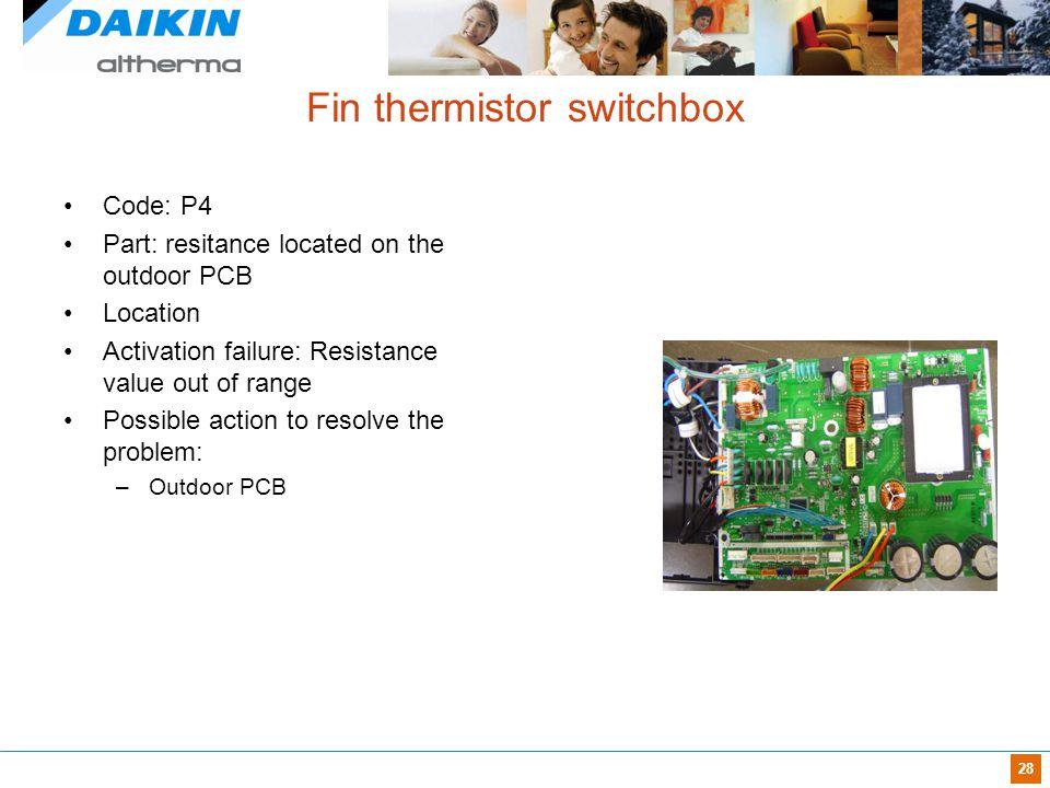 Fin thermistor switchbox