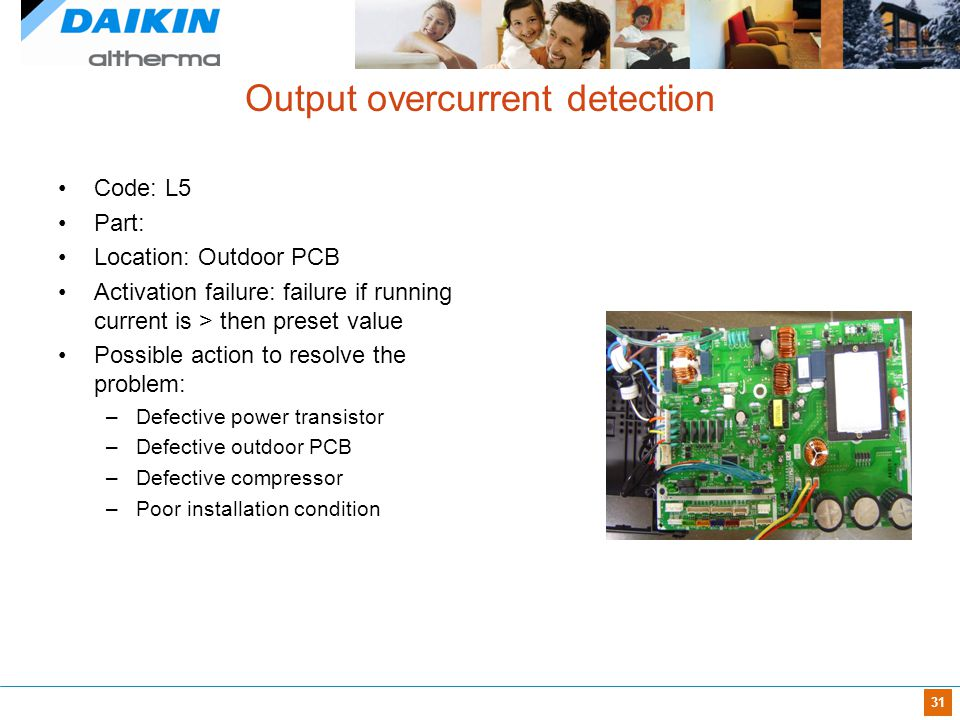 Output overcurrent detection