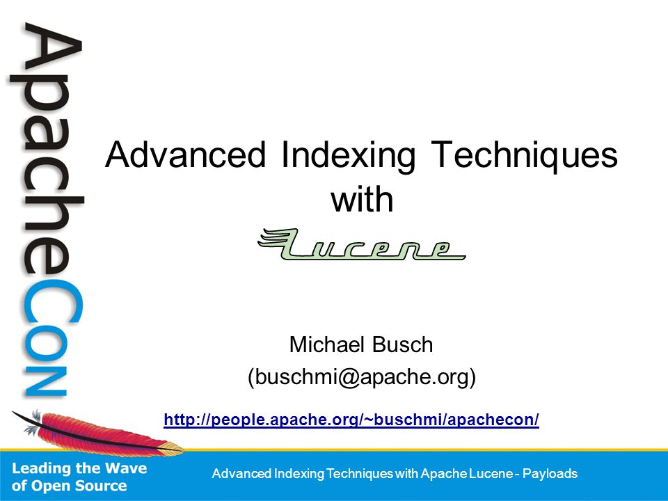 Advanced Indexing Techniques with