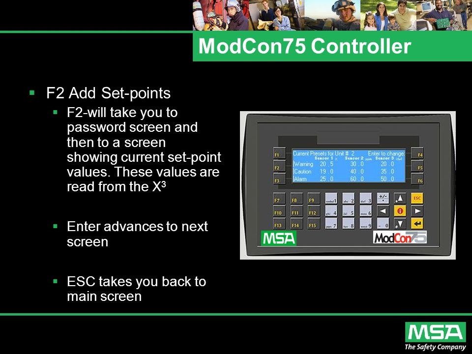 ModCon75 Controller F2 Add Set-points