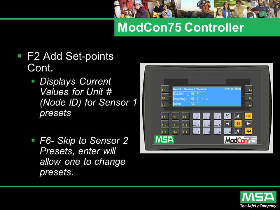 ModCon75 Controller F2 Add Set-points Cont.