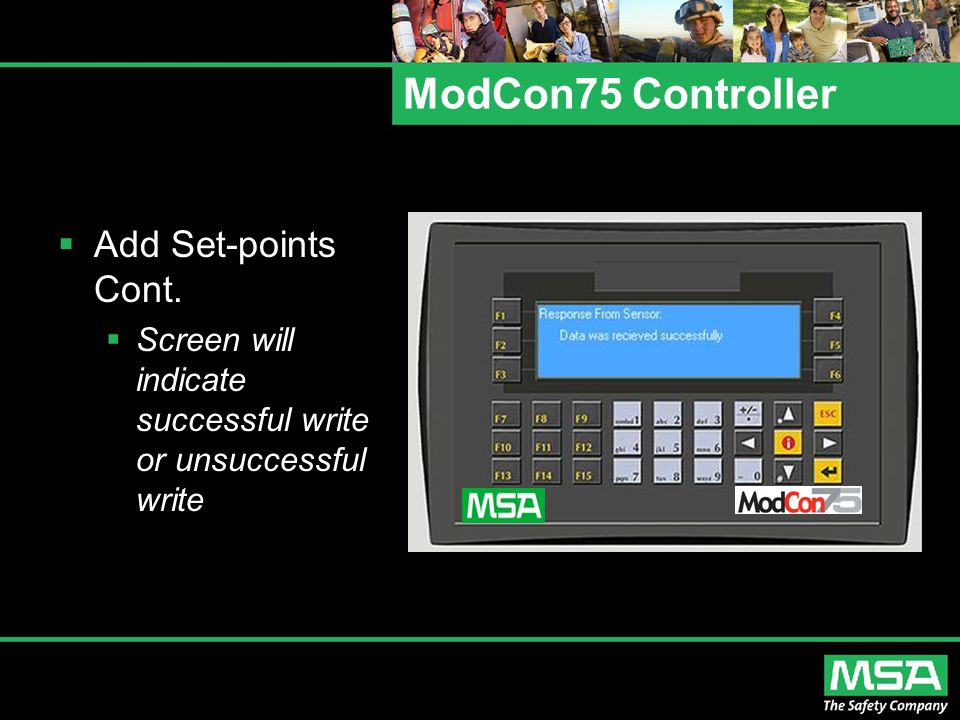 ModCon75 Controller Add Set-points Cont.
