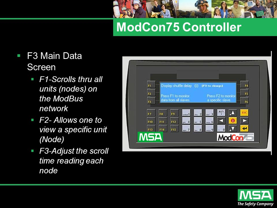 ModCon75 Controller F3 Main Data Screen