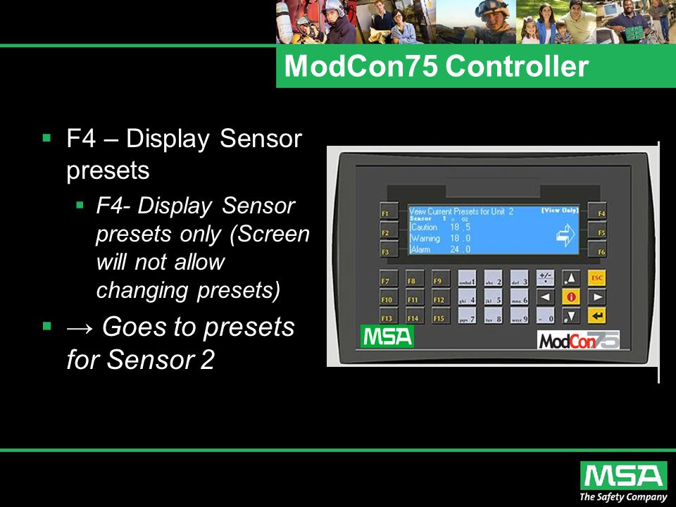 ModCon75 Controller → Goes to presets for Sensor 2
