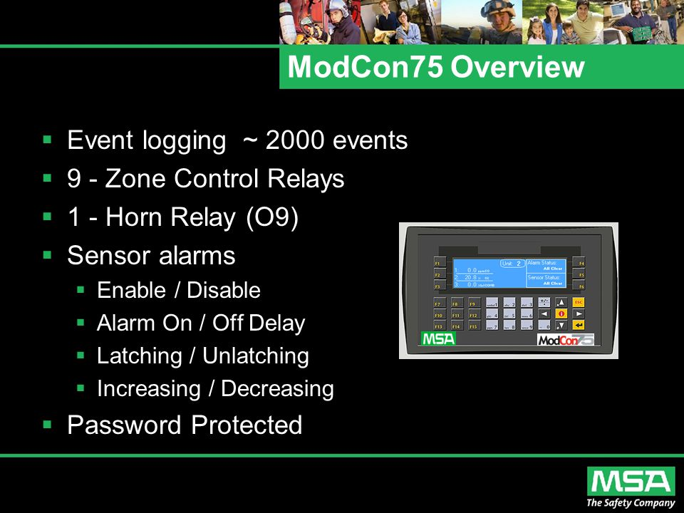 ModCon75 Overview Event logging ~ 2000 events 9 - Zone Control Relays