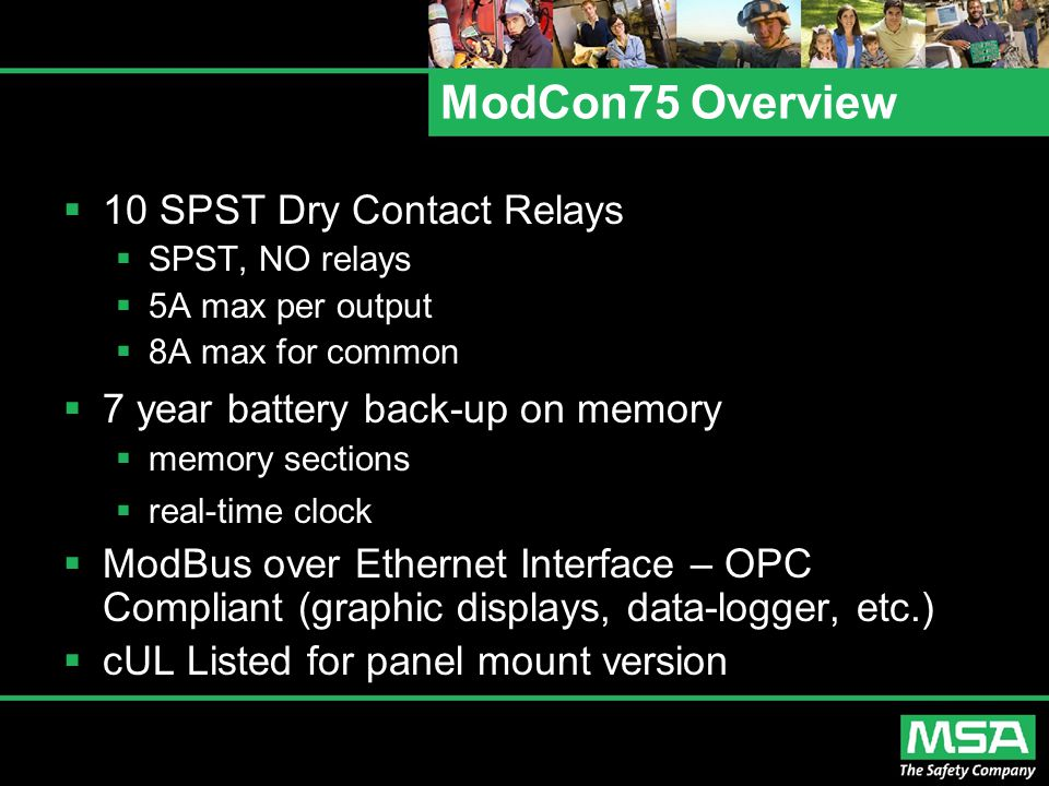 ModCon75 Overview 10 SPST Dry Contact Relays