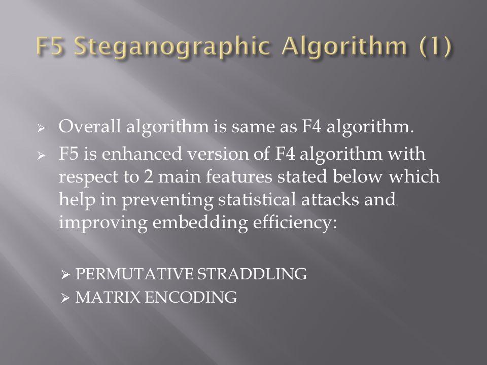 F5 Steganographic Algorithm (1)