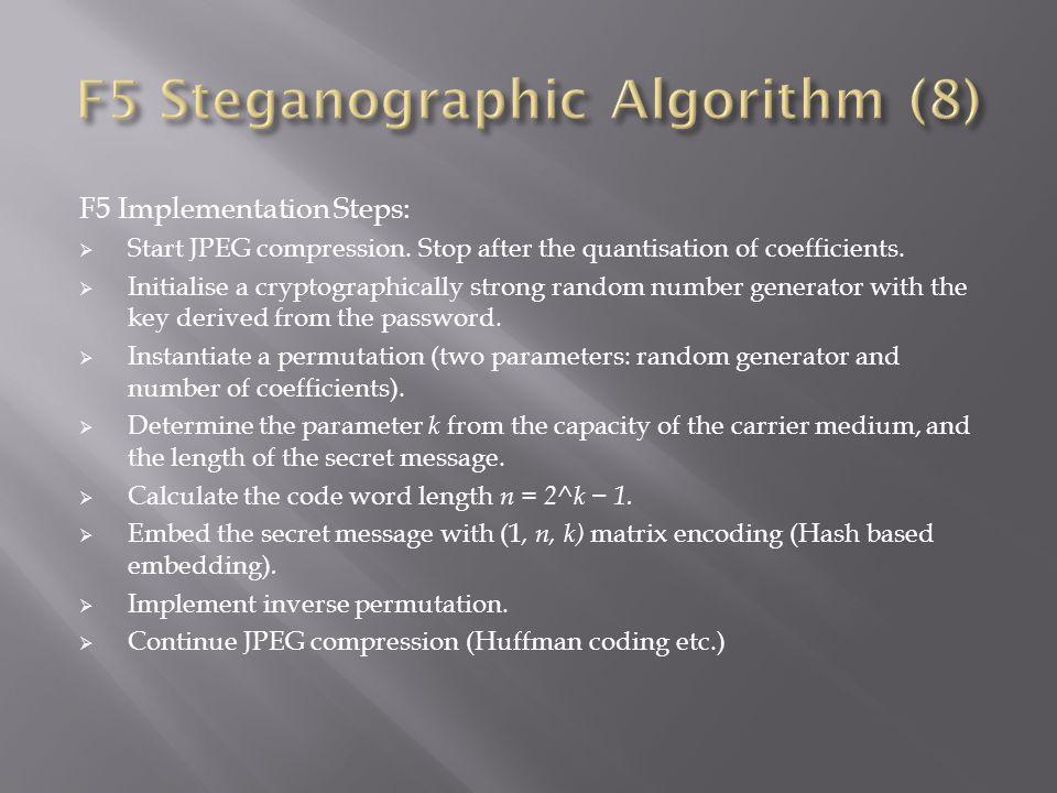F5 Steganographic Algorithm (8)