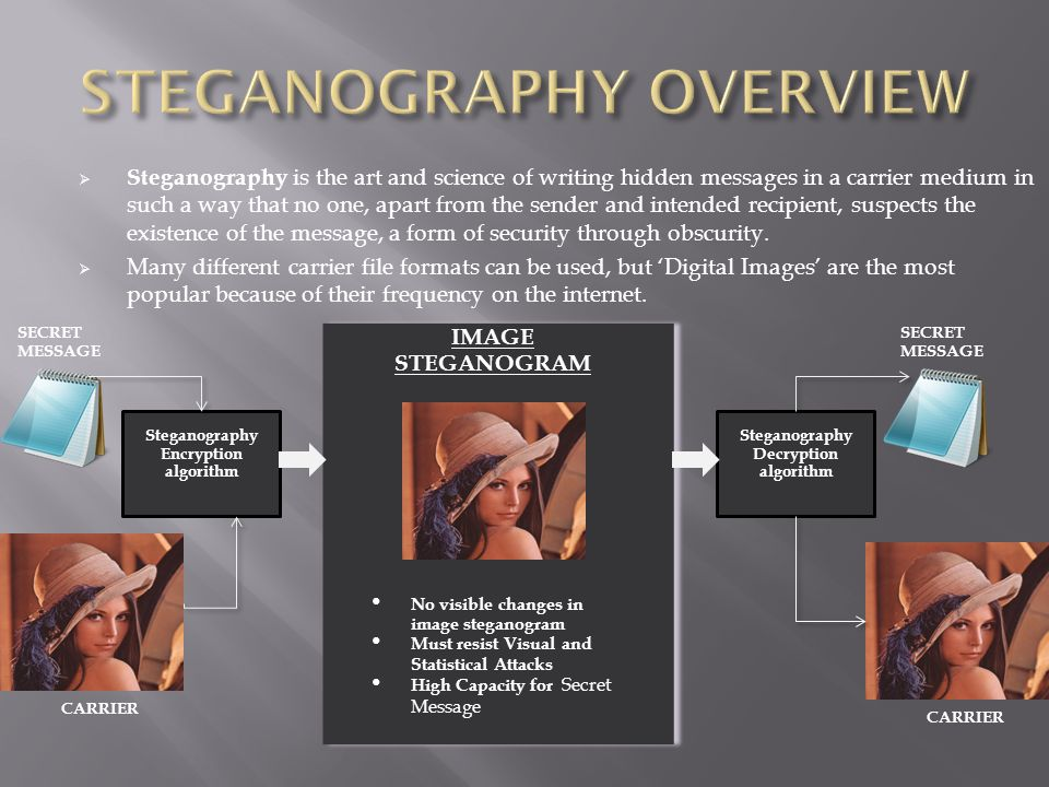 STEGANOGRAPHY OVERVIEW
