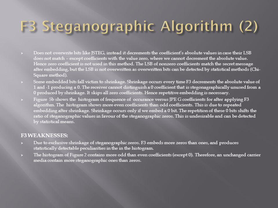 F3 Steganographic Algorithm (2)