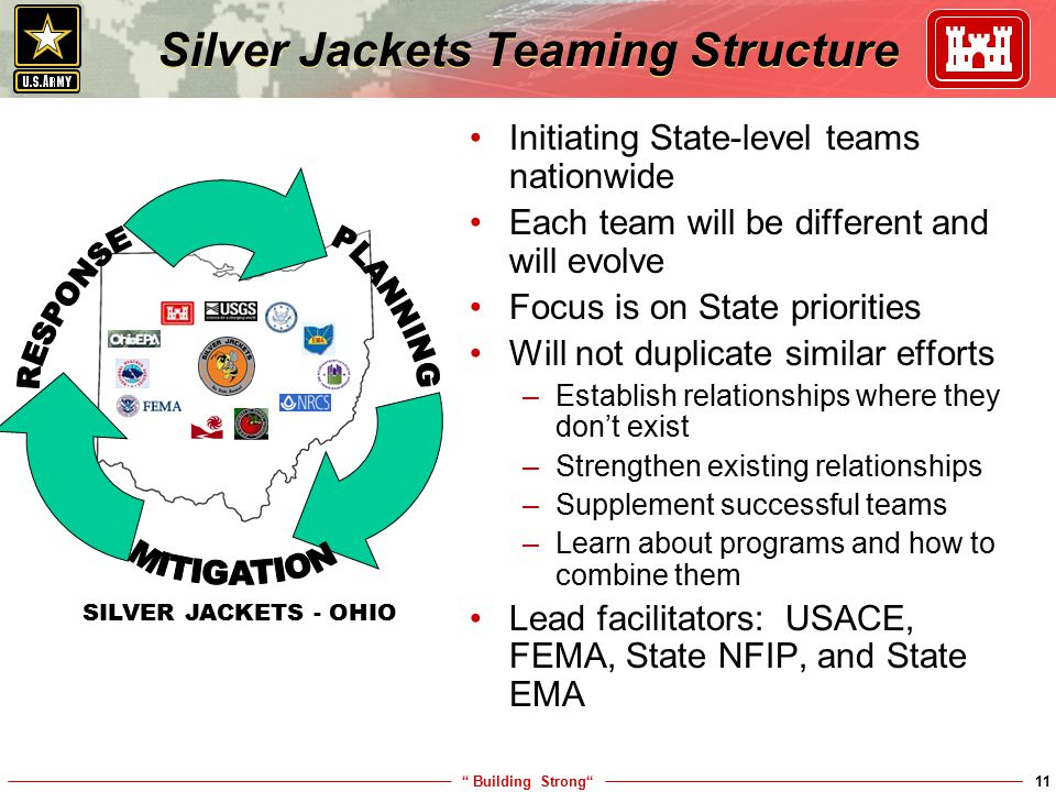 Silver Jackets Teaming Structure
