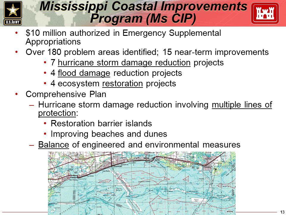 Mississippi Coastal Improvements Program (Ms CIP)